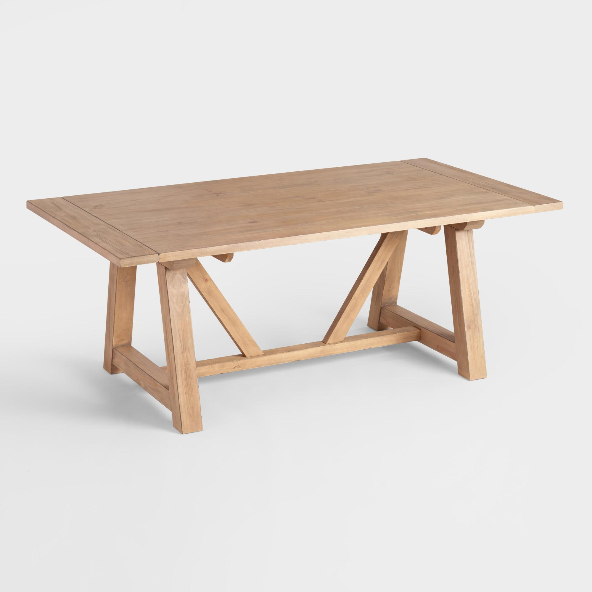 Wood Leona Farmhouse Dining Table