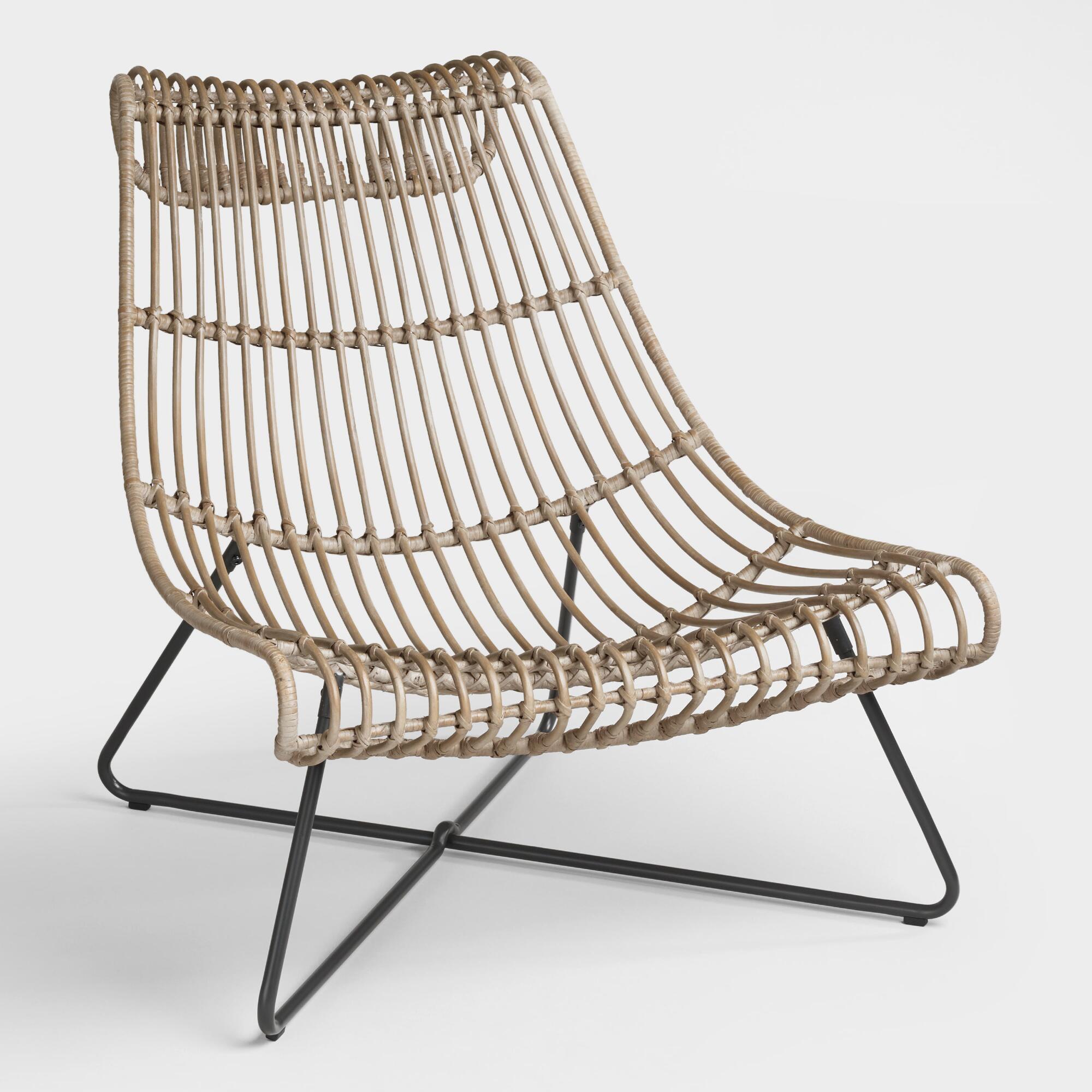 World Market Furniture Reviews: TAUPE RATTAN FLYNN LOUNGER CHAIR